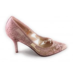 Groove Rose Gold Mesh Court Shoe