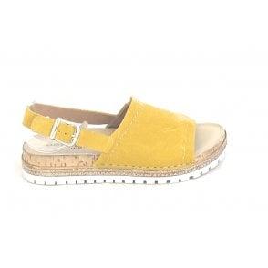 H823 Mustard Yellow Suede Sandal