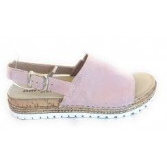 H823 Pastel Pink Suede Sandal