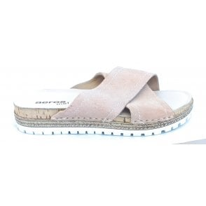 H831 Nude Leather Mule