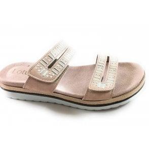 Halley Pink Mule Sandal