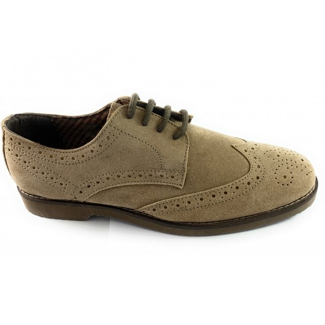 Lotus Hamill Brown Suede Lace-Up Mens Brogue