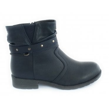 Harlow Navy Ankle Boot