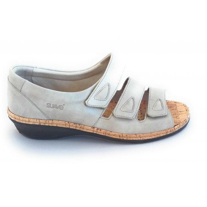 Suave Harriet Beige Leather Closed Heel Sanda