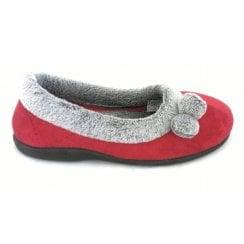 Harriet Red Pom Pom Slipper
