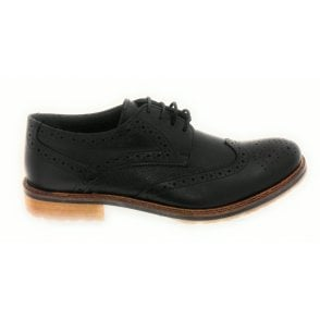 Hatch Men's Black Leather Brogue