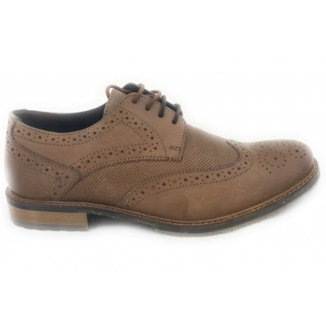 Lotus Hatch Men's Tan Leather Brogue