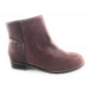 Hawk Burgundy Nubuck Round Toe Ankle Boot