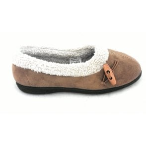 Heather Chestnut Ladies Slipper