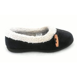 Heather Navy Ladies Slipper