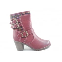 Hedera 40305 Red Ankle Boot