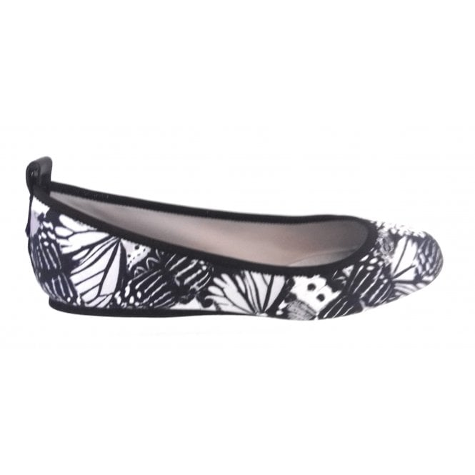 Butterfly Twists Heidi Mono Butterfly Print Slip On Pump