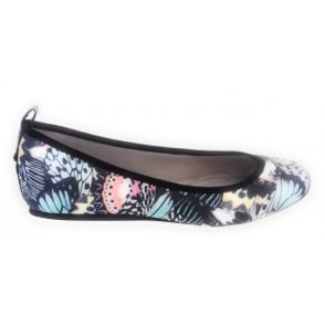 Heidi Multi Butterfly Print Slip On Pump