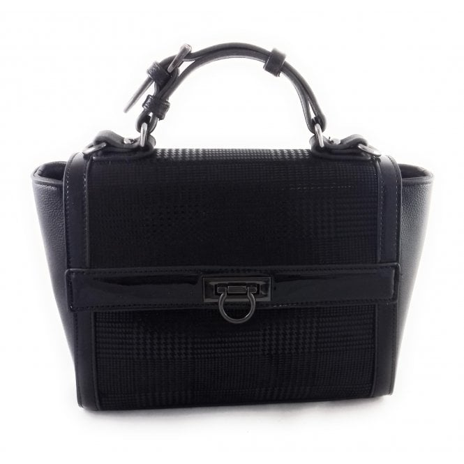 Lotus Hennie Black Print Tote Handbag