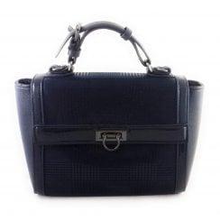 Hennie Navy Print Tote Handbag