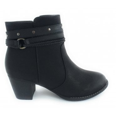 Henrietta Black Ankle Boot