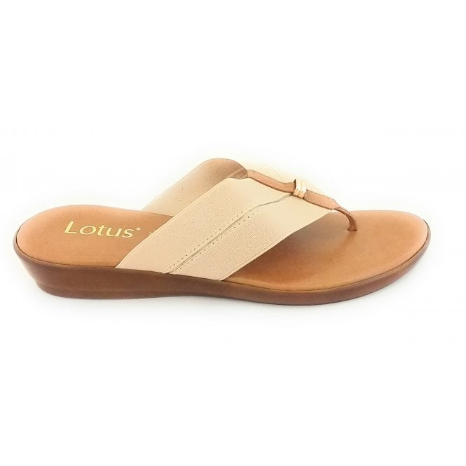 Lotus Hera Natural Toe-Post Sandal