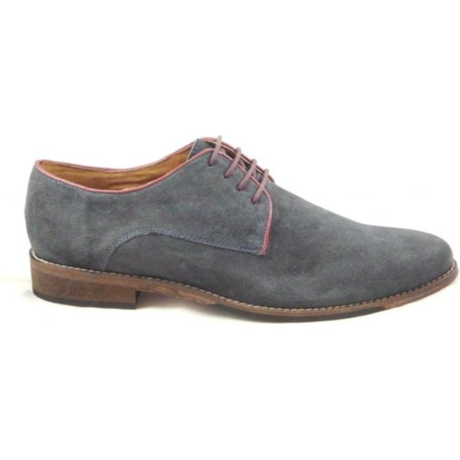 Lotus Hermon Navy Suede Lace-Up Shoe