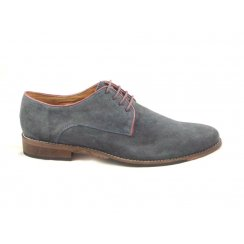 Hermon Navy Suede Lace-Up Shoe