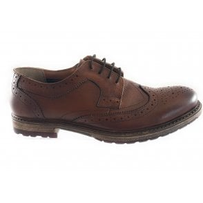 Heslington Brown Leather Lace-Up Brogue