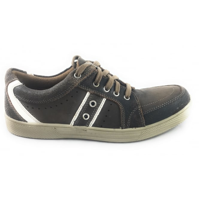 Lotus Hetton Brown Leather Lace-Up Casual Shoe