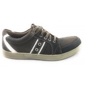 Hetton Brown Leather Lace-Up Casual Shoe