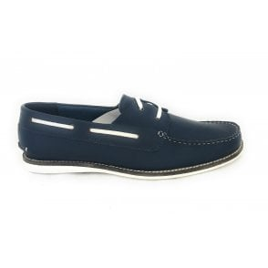 Holbrook II Men's Navy Leather Deck Shoe