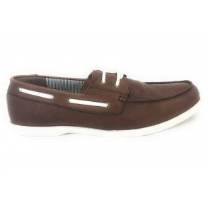 Holbrook Men's Brown Leather Deck Shoe