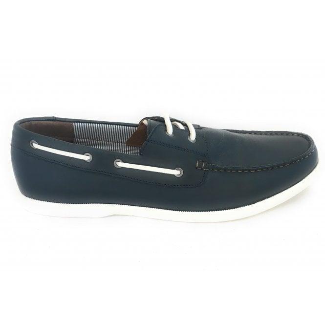 Lotus Holbrook Men's Navy Leather Deck Shoe
