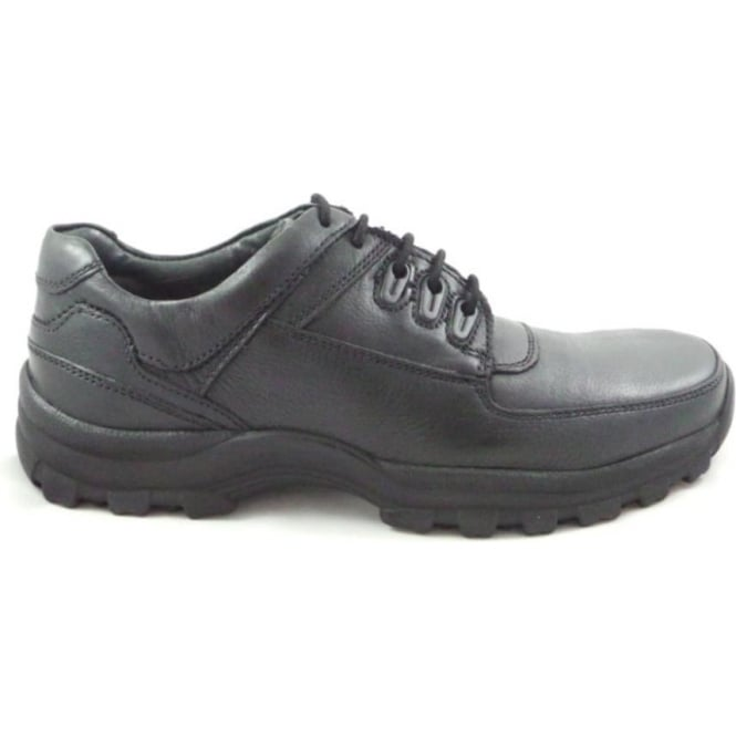 Lotus Holerson Black Leather Lace-Up Casual Shoe
