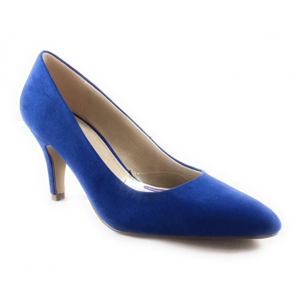 3f9da7a49e Lotus Holly Blue Microfibre Court Shoe - Lotus from size4footwear.com UK