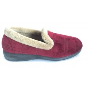 Holly Burgundy Quilted Slippers