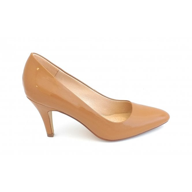 Lotus Holly Caramel Patent Court Shoe