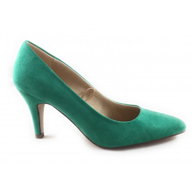 Lotus Holly Green Microfibre Court Shoe