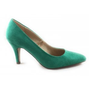 Holly Green Microfibre Court Shoe