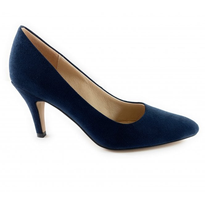 Lotus Holly Navy Microfibre Court Shoe
