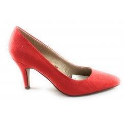 Holly Orange Microfibre Court Shoe