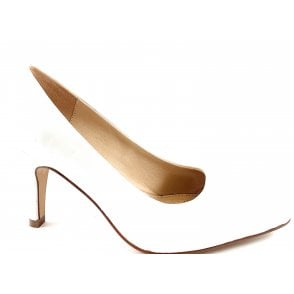 Holly White Court Shoe