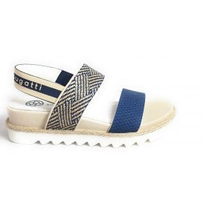 Hope 431-67586-5869 Dark Blue and Beige Sandals