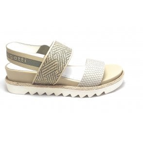 Hope 431-67586-5869 Light Green and Beige Sandals