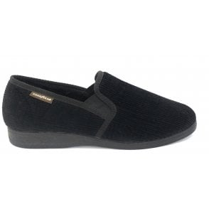 Humber Black Corduroy Slippers