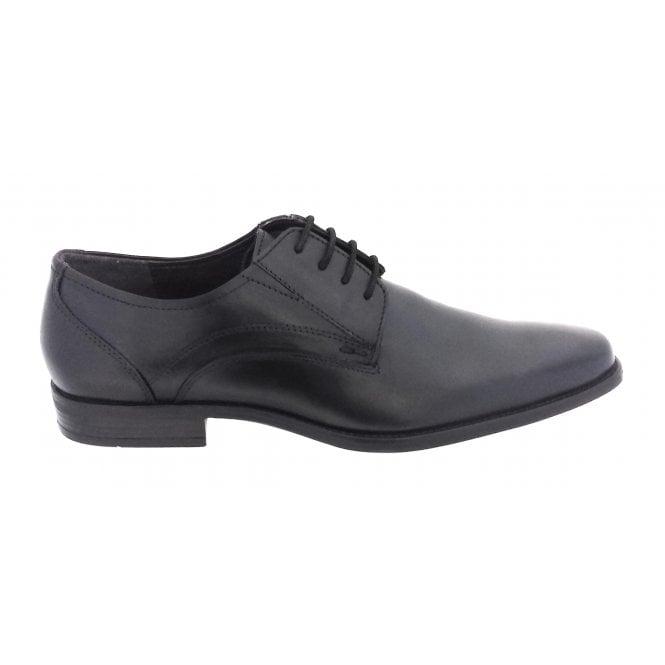 Lotus Huntington Black Leather Lace-Up Men's Shoe
