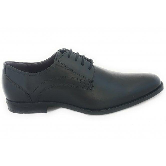 Lotus Huntington Men's Black Leather Lace-Up Shoe