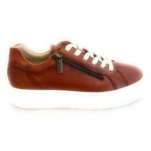 Infinity 412-88303-4100 Tan Leather Trainers