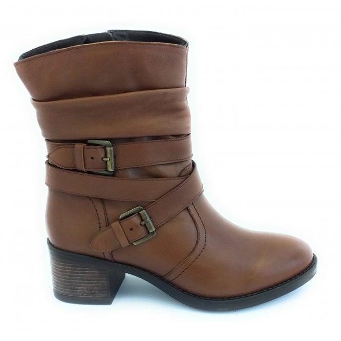 Lotus Iowa Tan Leather Ankle Boot