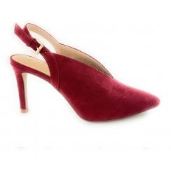 Isobel Dark Red Microfibre Shoe