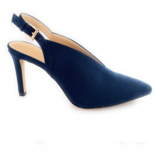 Lotus Isobel Navy Microfibre Shoe