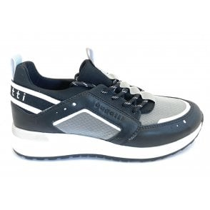 Ivory Evo 411-A2M60-5069 Black and White Trainers