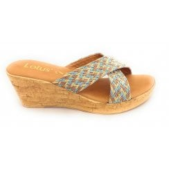 Jacinta Natural Multi Wedge Mule