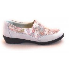 Jan Light Grey Floral Print Comfort Shoes
